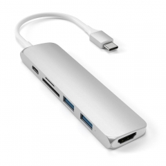 Satechi Slim Aluminum Type-C Multi-Port Adapter 4K Silver (ST-SCMA2S)