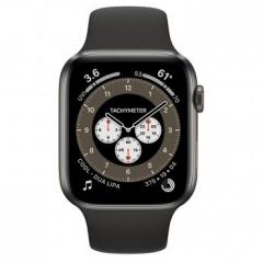 Apple Watch Series 6 GPS + Cellular 44mm Space Black Titanium Case w. Dark Gray Sport Band (M0H13)